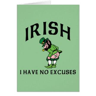 アイルランド語-私は弁解を有しません カード