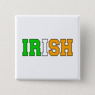 アイルランド語 5.1CM 正方形バッジ