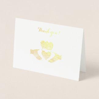 アイルランド語Claddaghはノート感謝していしています 箔カード