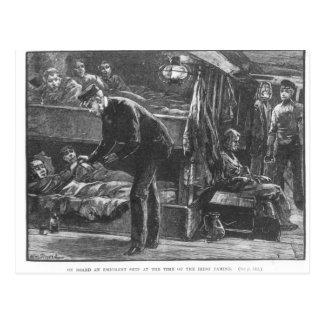 アイルランド飢饉の時の移民船 ポストカード