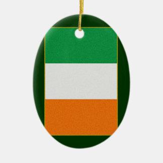 アイルランド-三色アイルランド共和国の旗 セラミックオーナメント