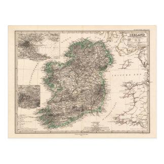 アイルランド(1876年)の地図 ポストカード