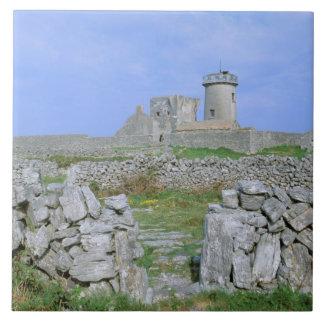 アイルランド、InishmoreのAranの島、Aengusの焦げ茶色の城砦 タイル