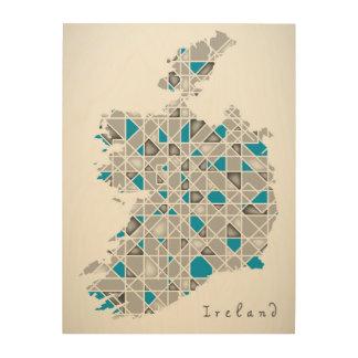 アイルランドMap|の水晶ダイヤモンドのスタイルのアートワーク ウッドウォールアート