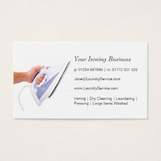 アイロンをかけること/洗濯のサービス業カード 名刺