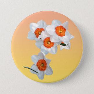 アインシュタインFlower Button教授の 7.6cm 丸型バッジ