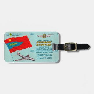 アエロフロート・ロシア航空の乗客のチケット ラゲッジタグ
