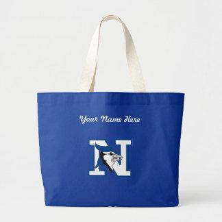 アオカケスのバッグ-それを個人化して下さい! ラージトートバッグ