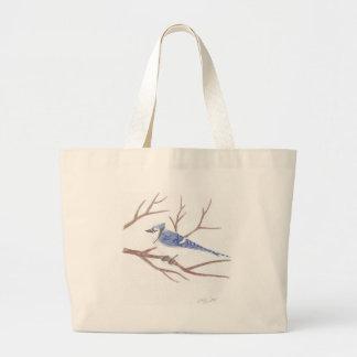 アオカケスのバッグ ラージトートバッグ