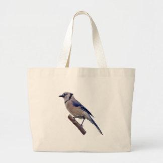 アオカケスの鳥 ラージトートバッグ