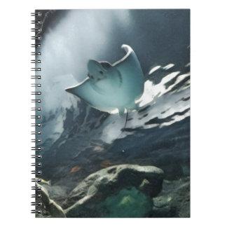 アカエイのクールで芸術的な下側 ノートブック