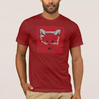 アカギツネのポップアートのTシャツ Tシャツ