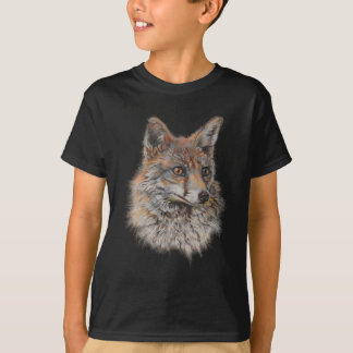 アカギツネの顔の芸術 Tシャツ
