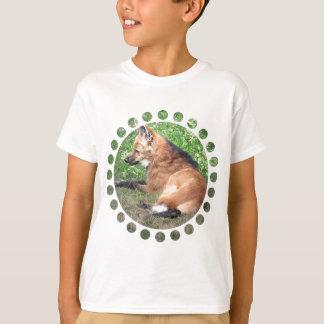 アカギツネは子供のTシャツを描きます Tシャツ