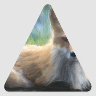 アカギツネ 三角形シール