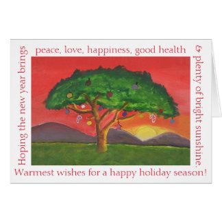 アカシアのクリスマスの日没 カード