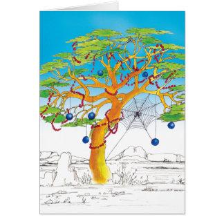 アカシアのクリスマスツリー カード