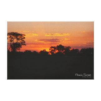 アカシアの日没 キャンバスプリント