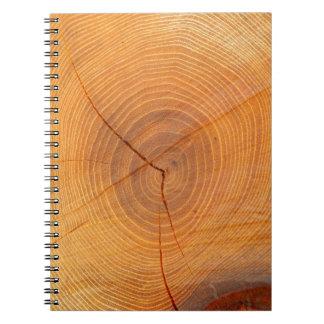 アカシアの木の断面写真のノート ノートブック
