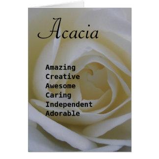アカシア カード