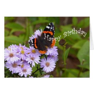 アカタテハチョウの蝶 グリーティングカード