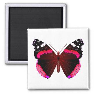 アカタテハチョウの蝶 マグネット