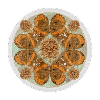 アカタテハチョウ蝶の曼荼羅のまな板 カッティングボード