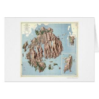 アカディア国立公園の地図1960年 カード