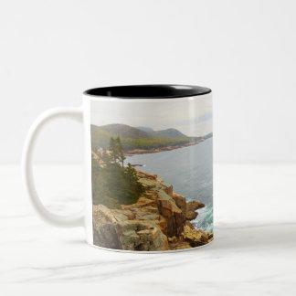 アカディア国立公園の沿岸眺め ツートーンマグカップ