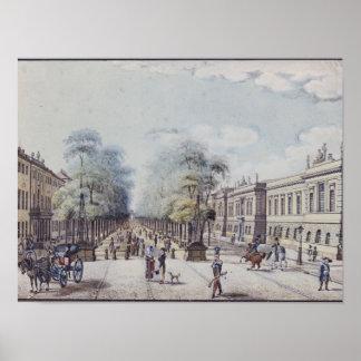 アカデミー、ベルリンを持つシナノキ ポスター