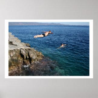 アカプルコのダイバー ポスター