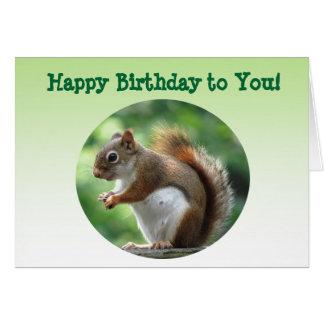アカリスの誕生日 カード
