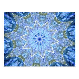 アクアマリンおよびペリドットの空想の万華鏡のように千変万化するパターン はがき
