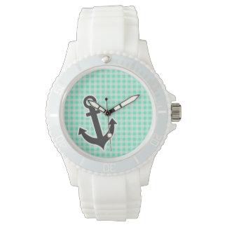 アクアマリンのギンガム; 航海のないかり 腕時計
