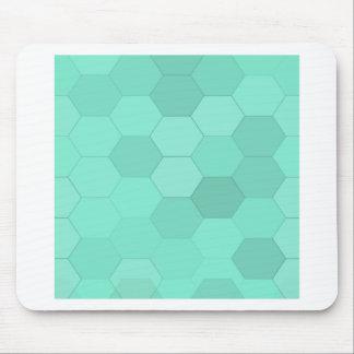 アクアマリンの六角形 マウスパッド