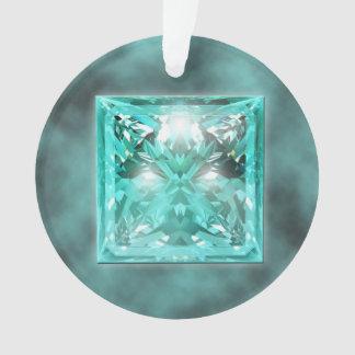 アクアマリンの宝石用原石のオーナメント オーナメント