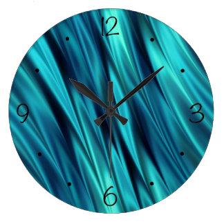 アクアマリンの膚触りがよい波 ラージ壁時計