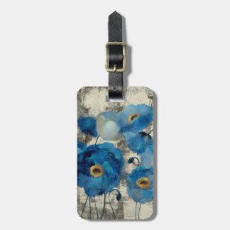 アクアマリンの花柄 ラゲッジタグ