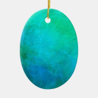 アクアマリンの青緑の氷の抽象美術 セラミックオーナメント