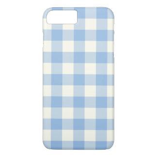 アクアマリン青のギンガムのiPhone 7のプラスの場合 iPhone 8 Plus/7 Plusケース