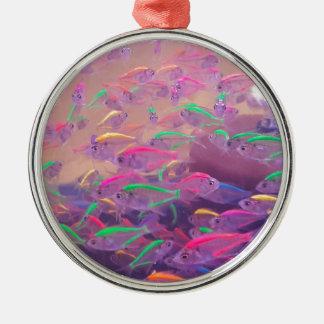 アクアリウムのネオン魚 メタルオーナメント