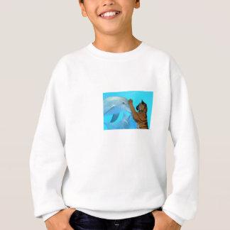 アクアリウムの愛らしいイルカおよびトラの大会 スウェットシャツ