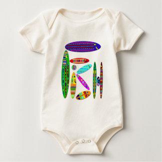 アクアリウムの魚のスタイルのワイシャツ ベビーボディスーツ