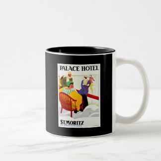 アクアリウムdeモナコのヴィンテージポスター ツートーンマグカップ