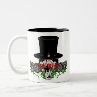 アクエリアスのスカル ツートーンマグカップ