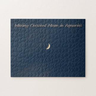アクエリアスの三日月形の月にワックスを掛けること ジグソーパズル