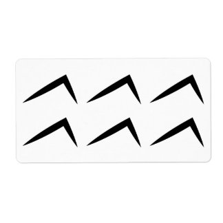 アクエリアスの占星術の占星術の記号 ラベル
