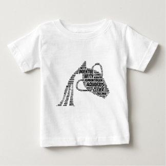 アクエリアスの占星術の(占星術の)十二宮図の印の単語の雲 ベビーTシャツ