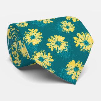 アクエリアスの印刷される花のヴィンテージの独身の側 ネクタイ