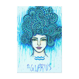 アクエリアスの女性 キャンバスプリント